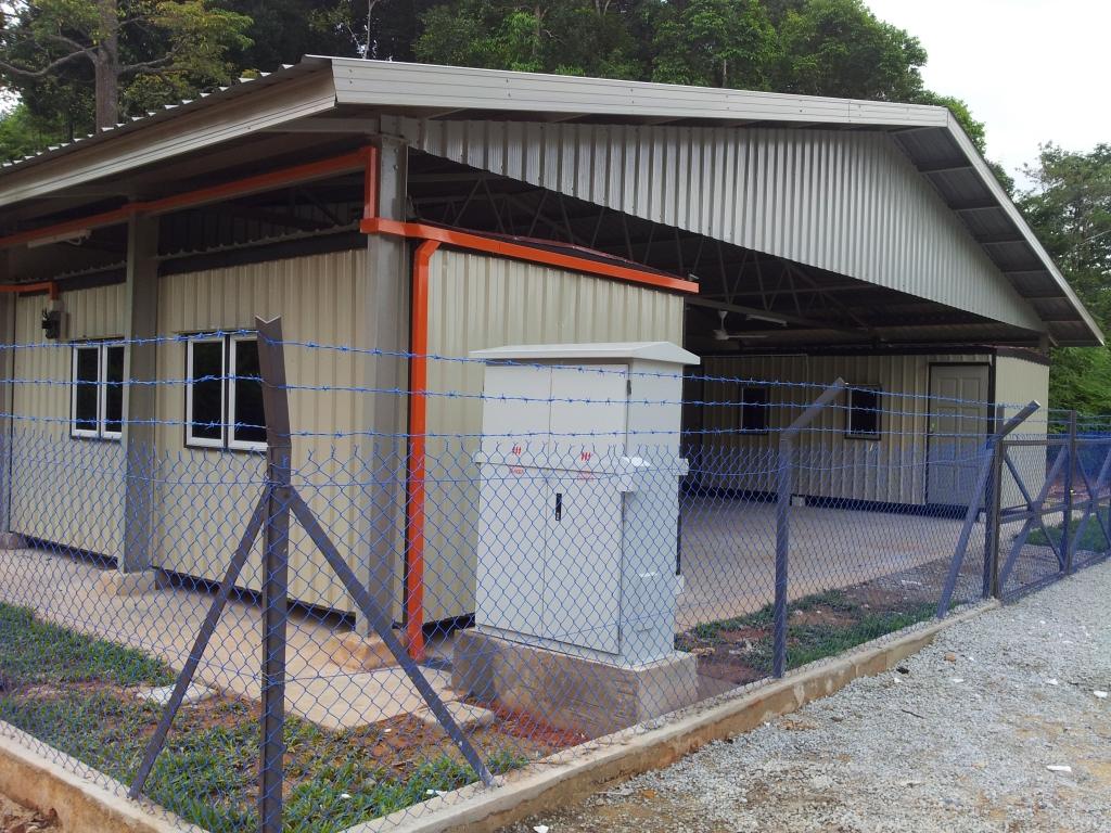 Kabin di Stesen Penyelidikan Kenyir.