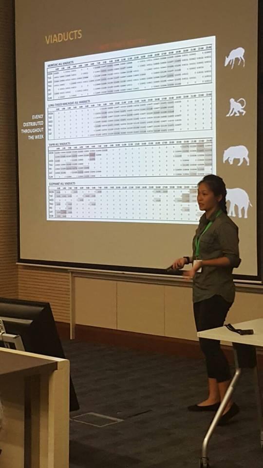 Wai Yee giving oral presentation, Msc candidate, IPK,